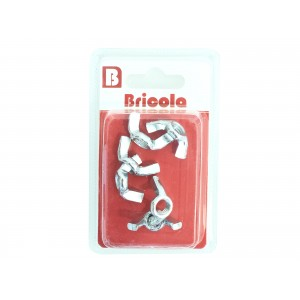 LOT DE 6 ÉCROU OREILLE M8 BRICOLA
