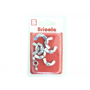 LOT DE 8 ÉCROU OREILLE M6 BRICOLA