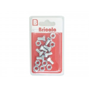 LOT DE 8 BOULON HEXAGONALE M6*10MM ACIER ZINGUE BRICOLA