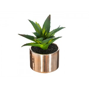 PLANTE VERTE ARTIFICIELLE EN POT BRILLANT SHINE H.13CM ATMOSPHERA