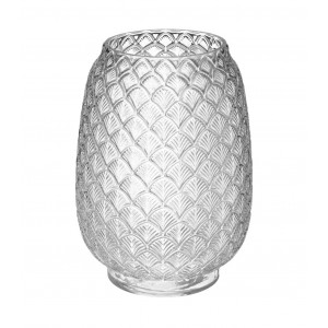 VASE FEUILLE EN VERRE COLONIAL H.25CM ATMOSPHERA