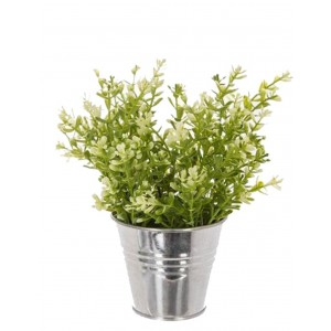 PLANTE ARTIFICIELLE EN POT EN ZINC D10*H25CM ATMOSPHERA