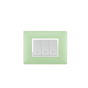 PLAQUE RECTANGULAIRE 3MODULES VERT ANIS ALPHA