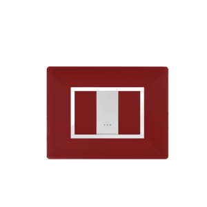 PLAQUE RECTANGULAIRE 1MODULE ROUGE BORDEAUX ALPHA