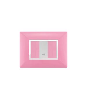 PLAQUE RECTANGULAIRE 1MODULE ROSE  ALPHA