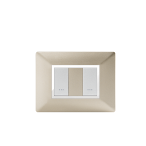 PLAQUE RECTANGULAIRE 2MODULES CHAMPAGNE ALPHA
