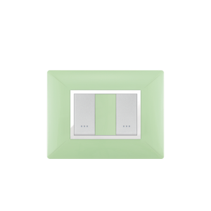 PLAQUE RECTANGULAIRE 2MODULES VERT ANIS ALPHA