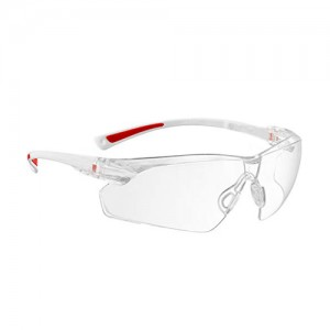 MASQUE DE  PROTECTION TRANSPARENT/ROUGE SAFETY GOGGLES