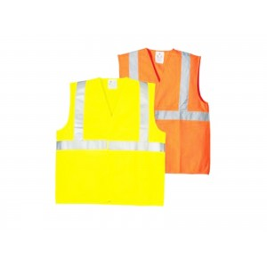 GILET DE SECURITE ORANGE ABRICOT