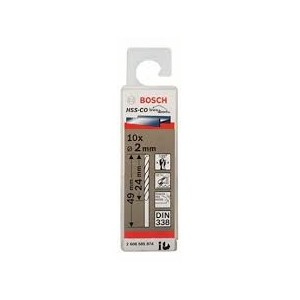FORET METAL 2MM HSS-CO 10PIECES  BOSCH