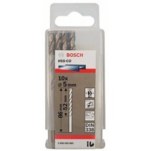 FORET METAL 5MM HSS-CO 10PIECES  BOSCH
