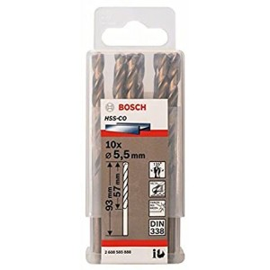 FORET METAL 5.5MM HSS-CO 10PIECES  BOSCH