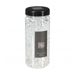 GEL CRYSTAL VASE TRANSP 400ML