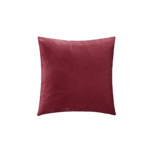 COUSSIN VELOUR BULB 45*45CM ROUGE ATMOSPHERA