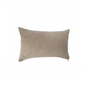 COUSSIN ZIPPER 30X50CM TAUP ATMOSPHERA